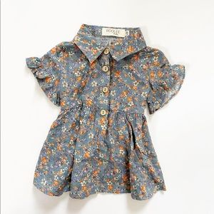 Roolee Baby Floral Collared Dress Size 3-6 Months